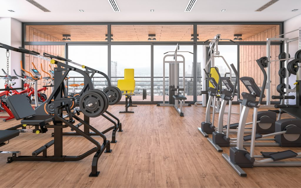 Newly installed gym equipment in Melbourne